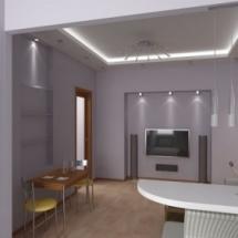 Различное освещение потолка