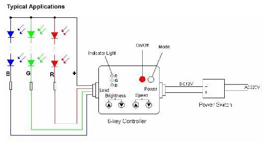 Схема подключения светодиодного контроллера RGB